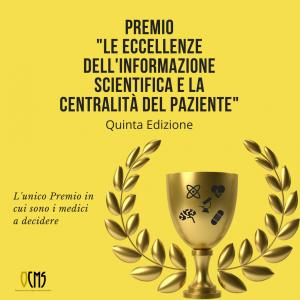 """premio """"Le Eccellenze dell'Informazione Scientifica e la Centralità del Paziente """""""